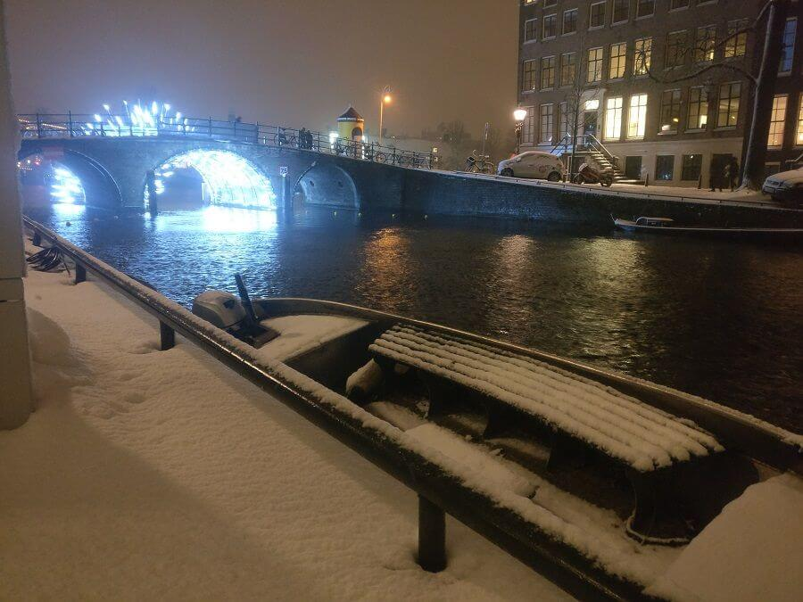Amsterdam Canal Belt as Winter Wonderland