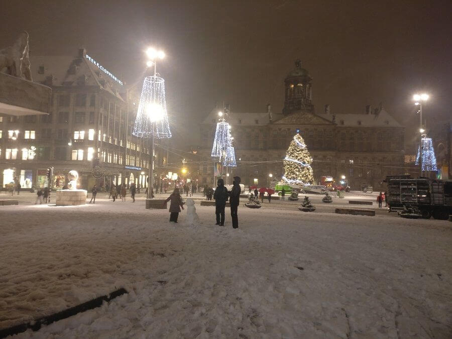 Dam Square Christmas Tree and Snowman