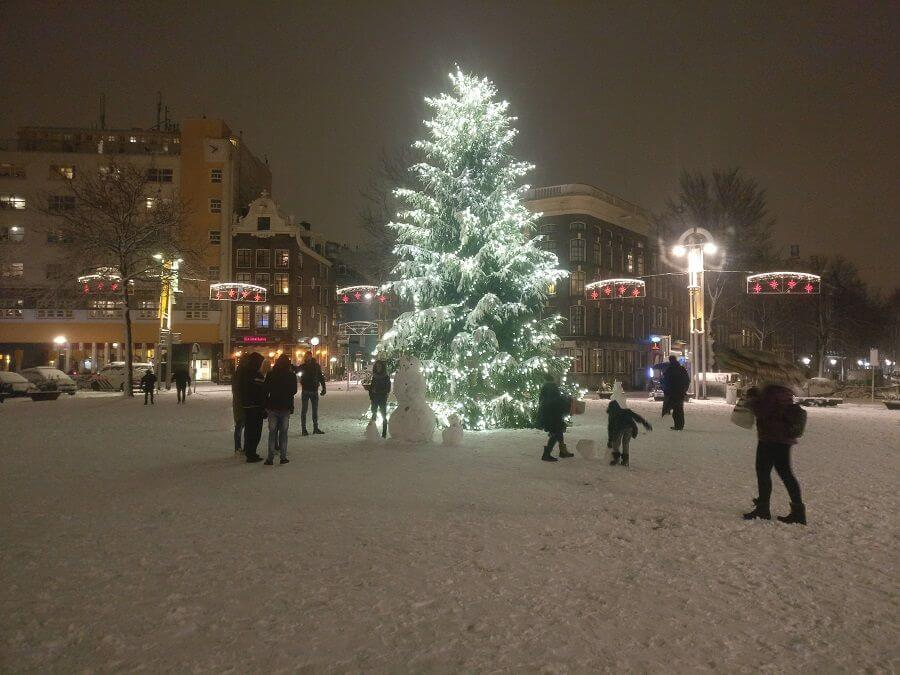 Nieuwmarkt Snowman and Christmas Tree