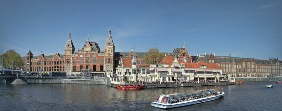 Amsterdam Central Station panorama