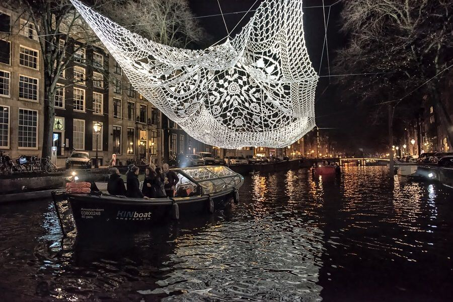 KINboat Amsterdam Light Festival