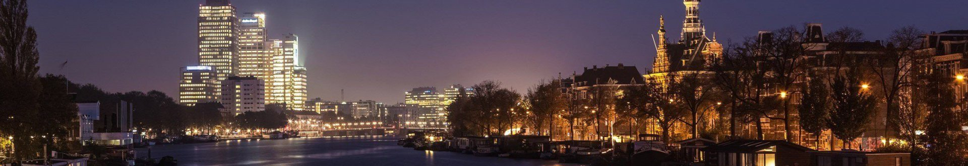 Amstel river by night
