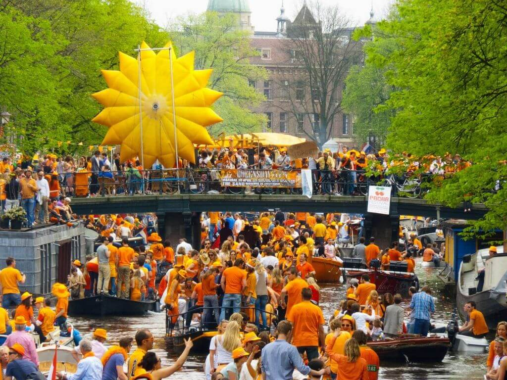 People Celebrating King's Day