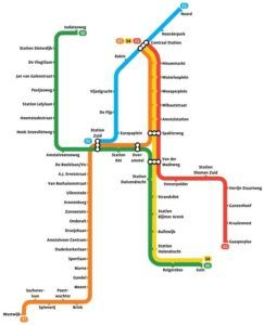 Amsterdam subwaymap 2018