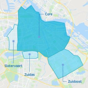 ViaVan zones Amsterdam