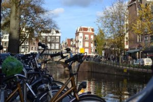 Bike on asmterdam canal