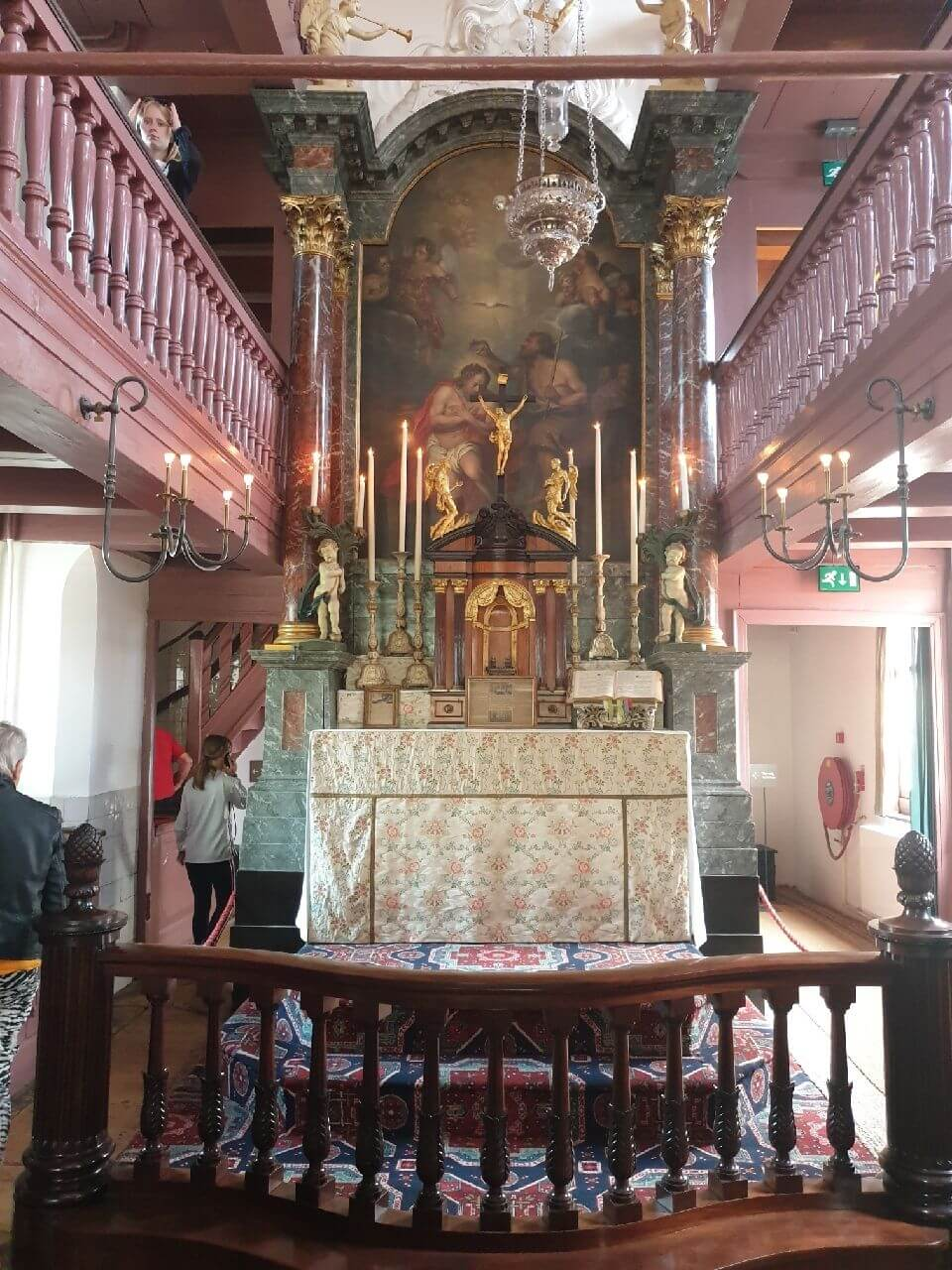 Altar of the 16th century church in the Museum Ons Lieve Heer op Solder Amsterdam