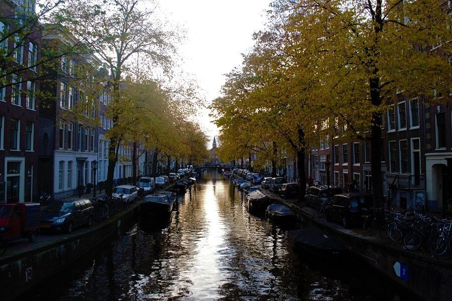 Amsterdam Canal Belt in fall