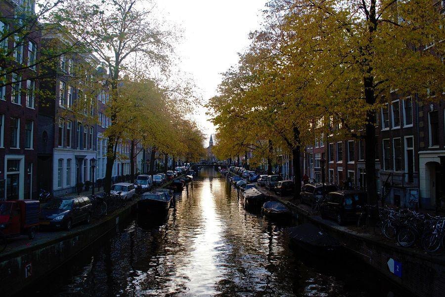 Amsterdam Canal Belt in fall