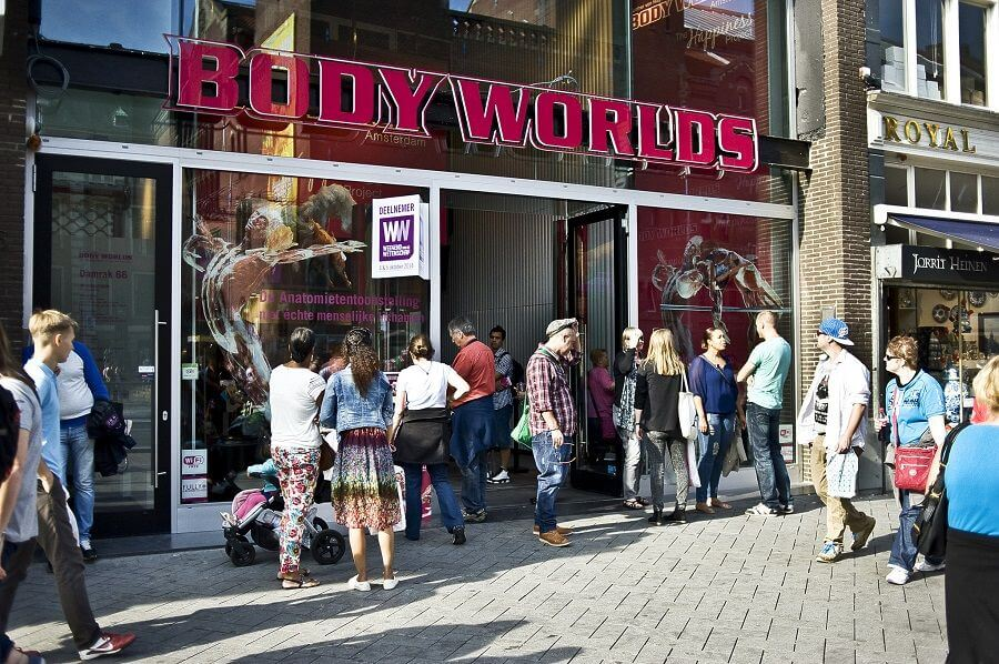 BODY WORLDS amsterdam entrance