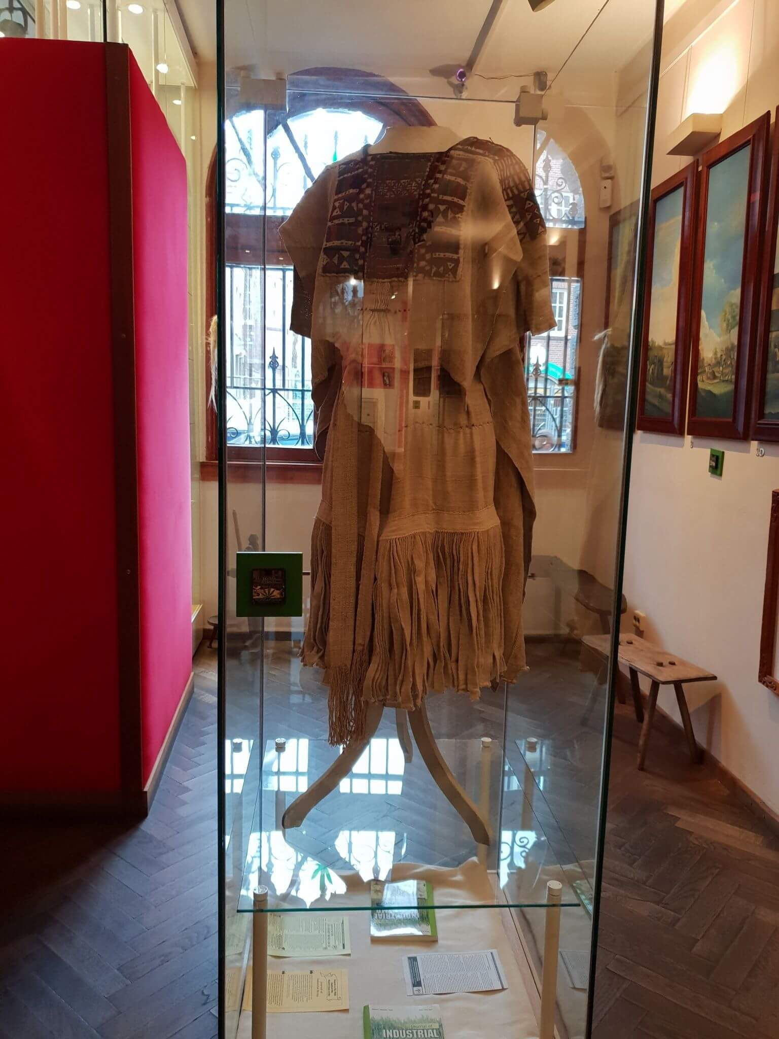 Chinese dress made from hemp at Hash Marihuana Museum Amsterdam
