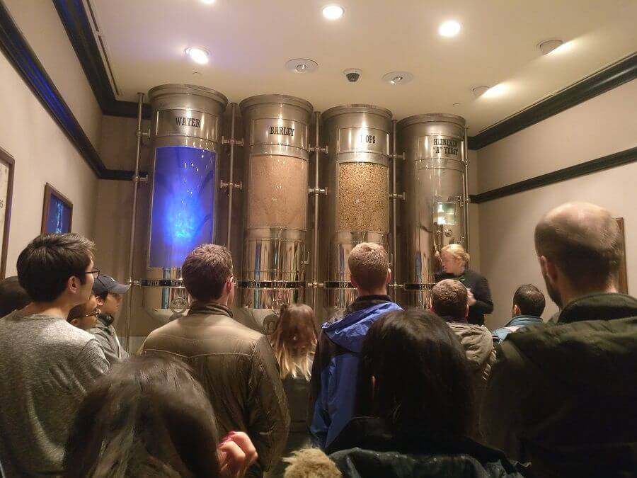 Heineken Experience - explanation of brewing process