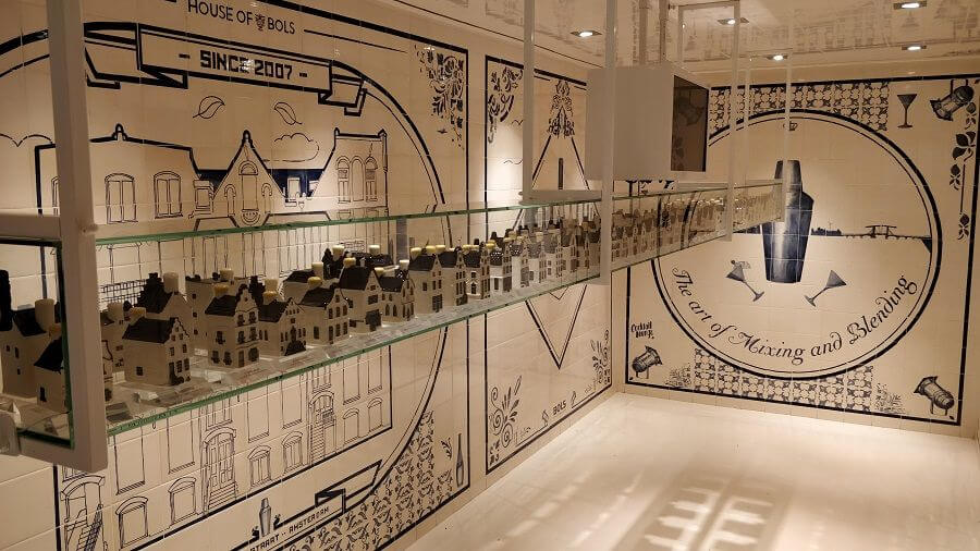 House of Bols - miniature Amsterdam genever houses