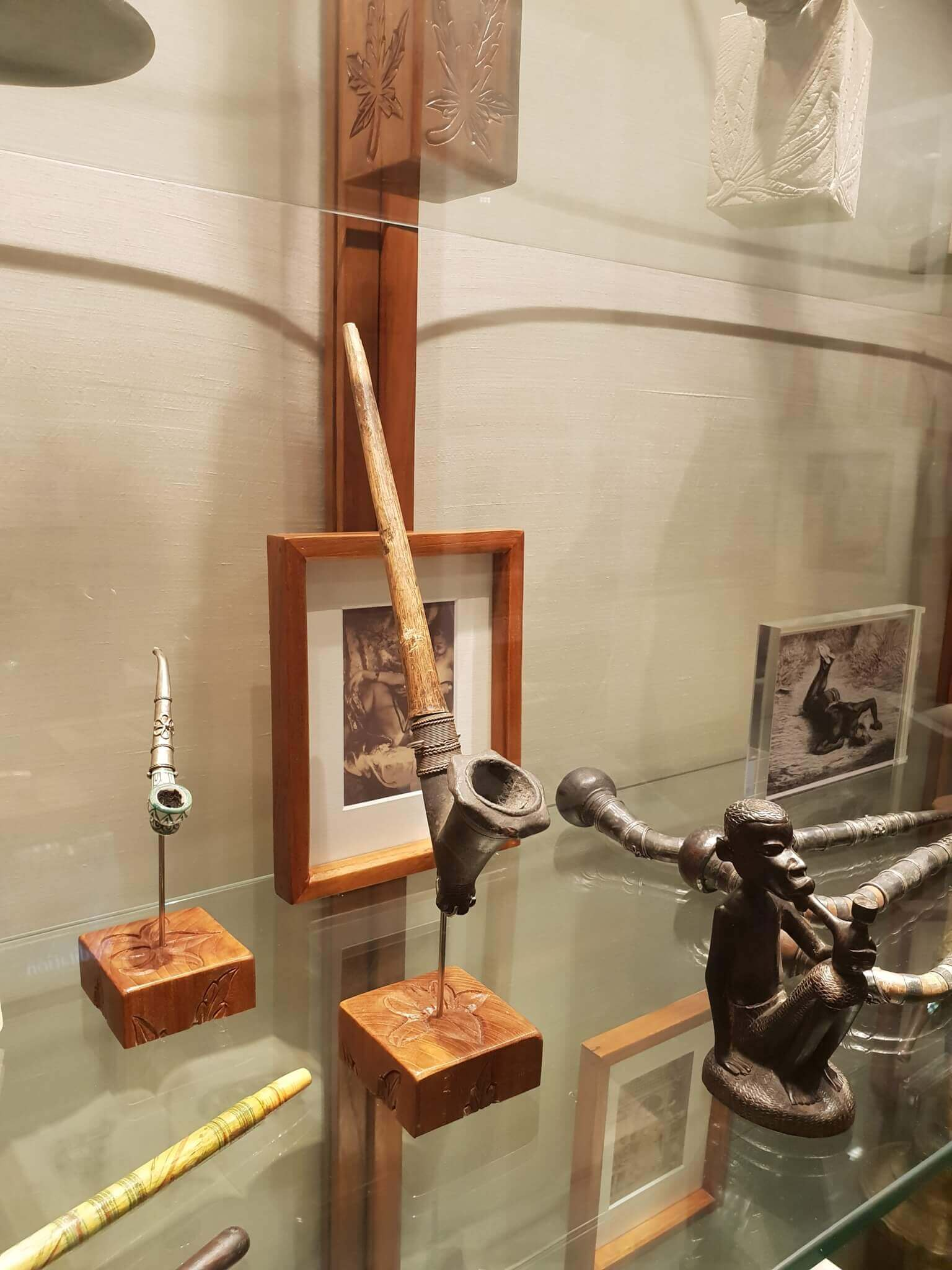 More vintage smoking pipes at Hash Marihuana Museum Amsterdam
