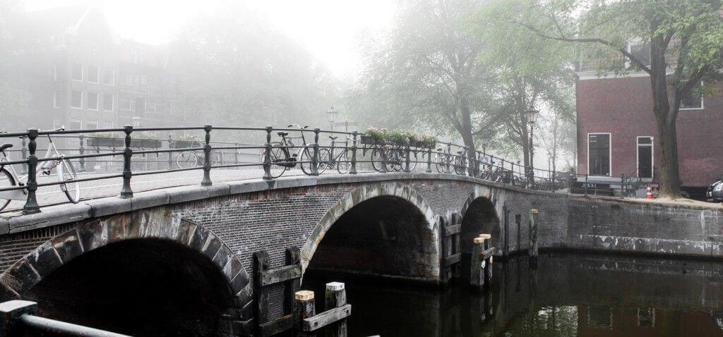 Bridge in Amsterdam canal belt
